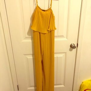Yellow Jumpsuit, Only worn once!